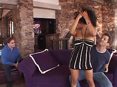 Hot Latin housewife gets...