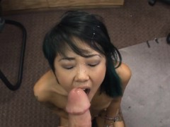 Asian chick gives massages...